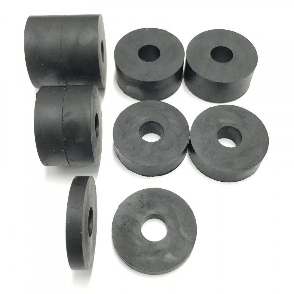 100 x 10mm m10 rubber spacersstandoff 10 pack 4x15mm 4x10mm