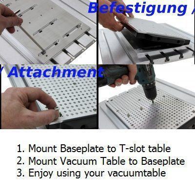 1000mm x 600mm vacuum table hole grid type