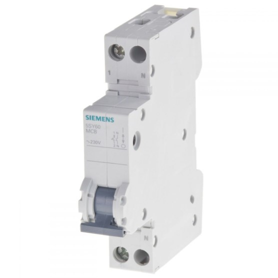 10amp 1pn circuit breaker siemens 5sl60107 de 85362010