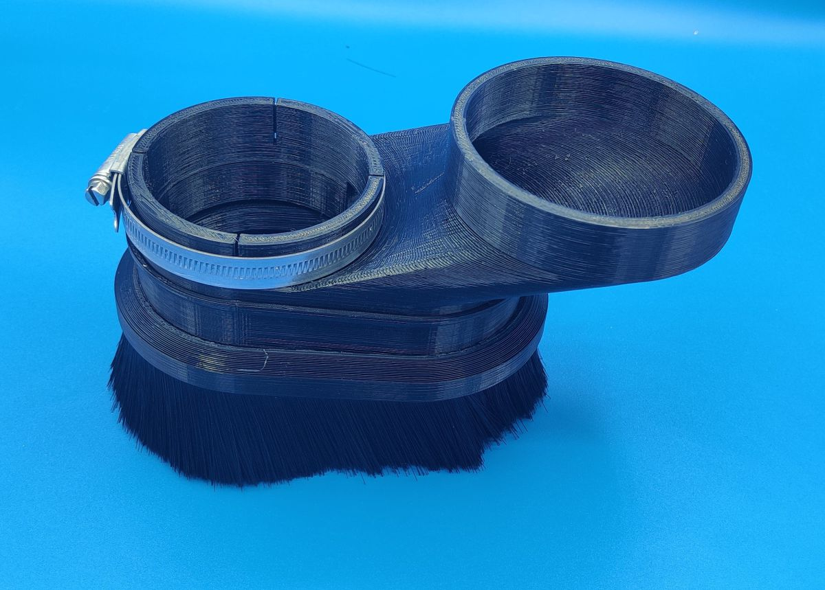 2kw tekno spindle 75mm to 100mm duct dust shoe uk 8414900