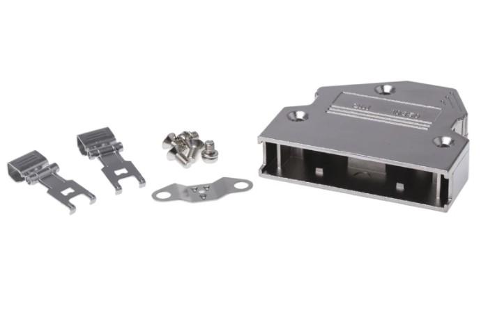 3m 103 aluminium angled dsub connector backshell 50 way strain relief