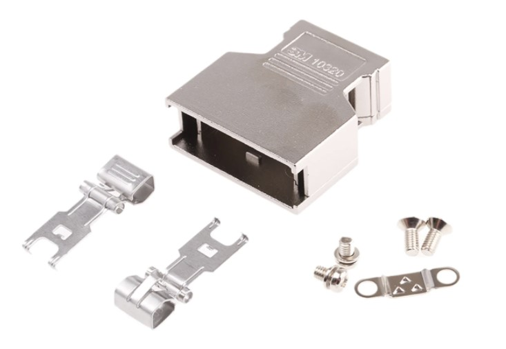 3m 103 die cast aluminium dsub connector backshell 20 way strain relief