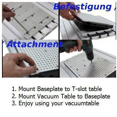 450mm x 300mm vacuum table hole grid type