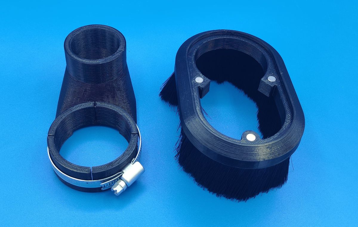 750w tekno 56mm spindle to 40mm duct dust shoe uk 8414900
