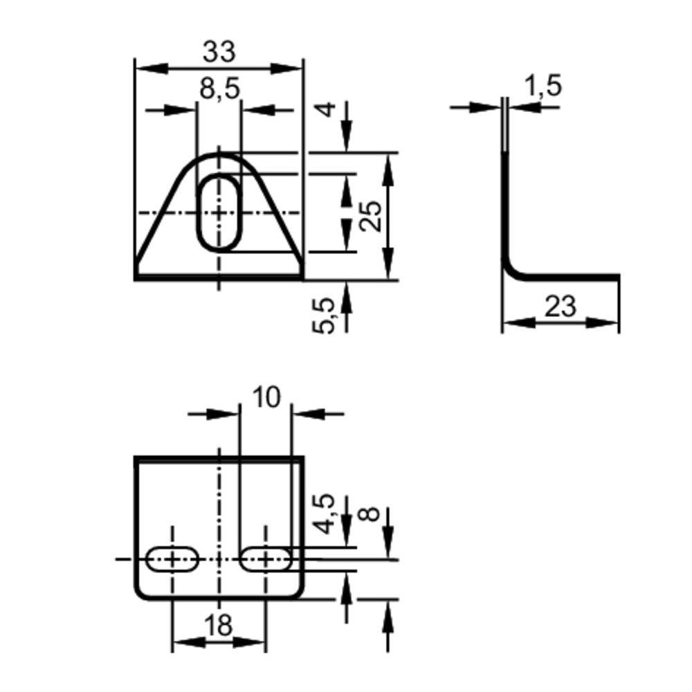 angle bracket for m8 sensors e10734