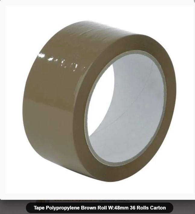 brown packaging tape polypropylene roll w48mm 36 rolls carton