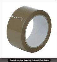 Brown Packaging Tape - Polypropylene Roll W:48mm 36 Rolls Carton