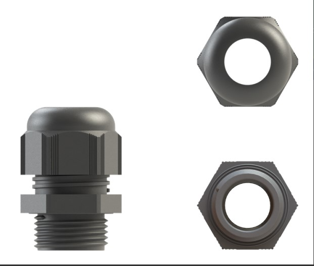 cable gland nylon 16mm grey ip68 pack of 10 cw locknut