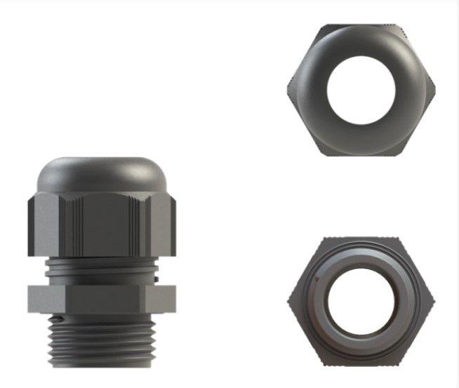 cable gland nylon 20mm grey ip68 612mm 10pk