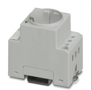 din rail electrical socket with led greyhousing push in terminals