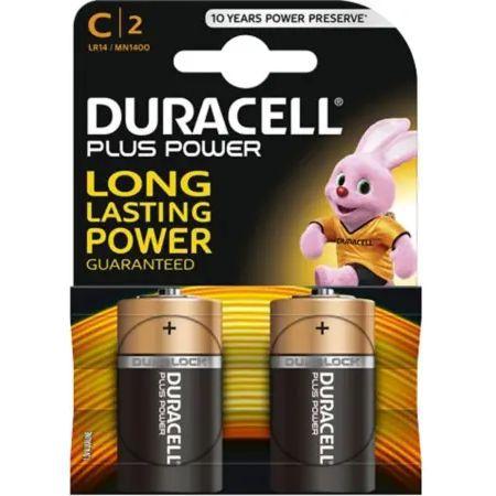 duracell battery plus power c 2 pieces
