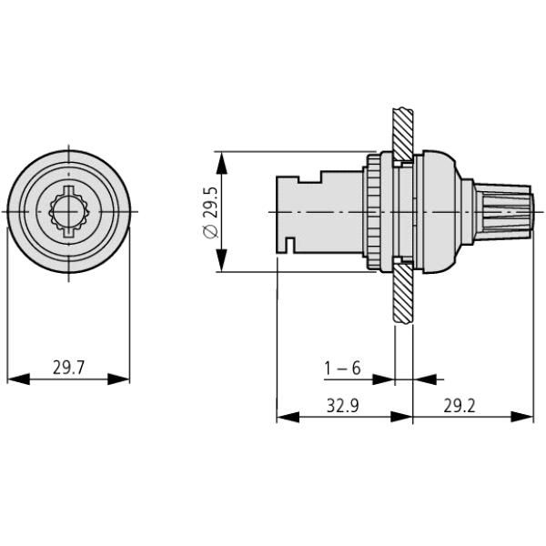 eaton moeller potentiometer 22mm r10k