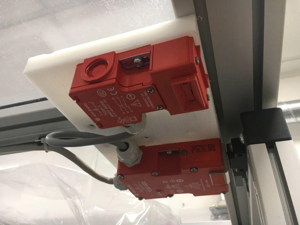 enclosure dual door safety system passive and interlock