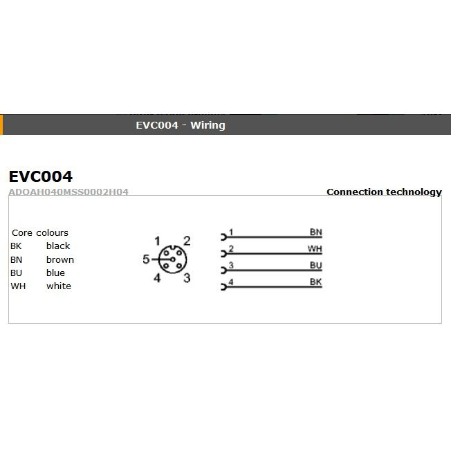 evc005 angled female m12 4pole 5m