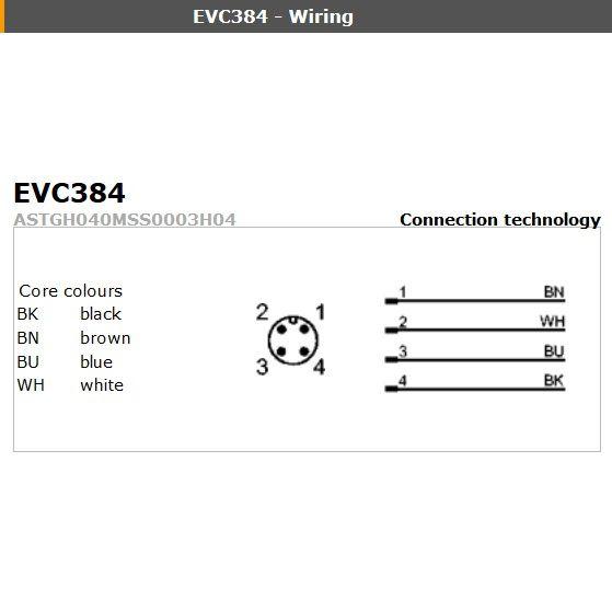 evc077 straight male m12 4pole 5m