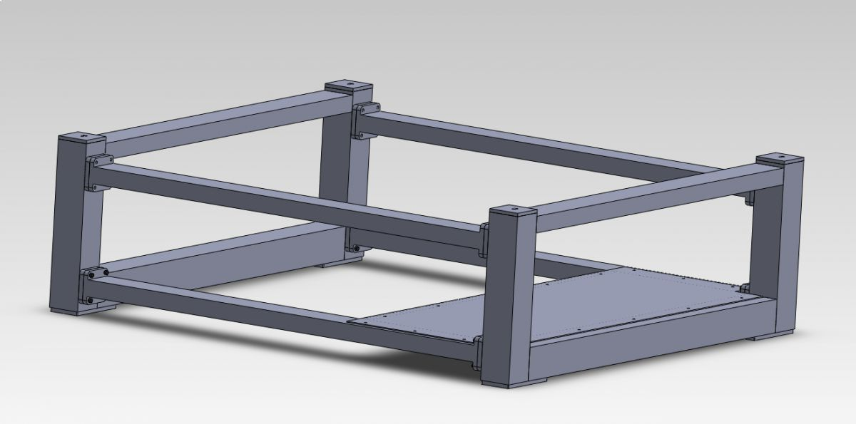 executive 16 steel bench welded version