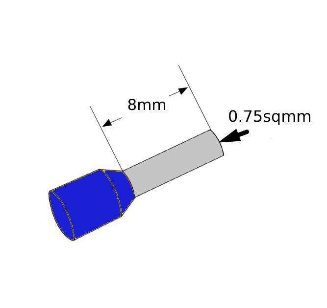 ferrules 075sq8mm blue pack 500 v30ae000537