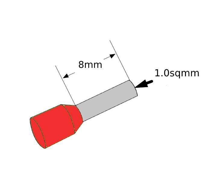 ferrules 10sq8mm red pack 500 v30ae000045