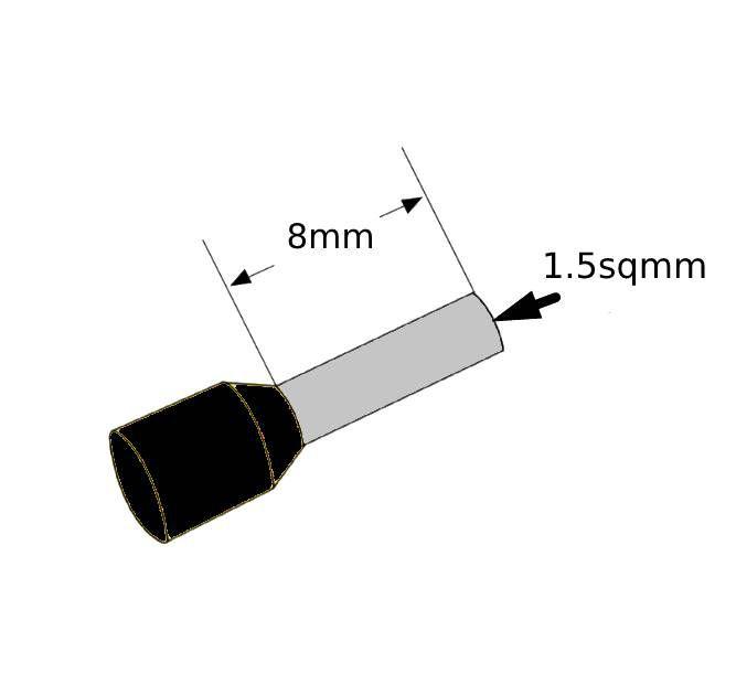 ferrules 15sq8mm black pack 500 v30ae000048