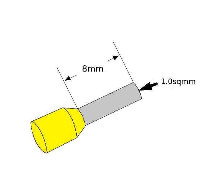 ferrules 1sq8mm yellow pack 500 v30ae000013
