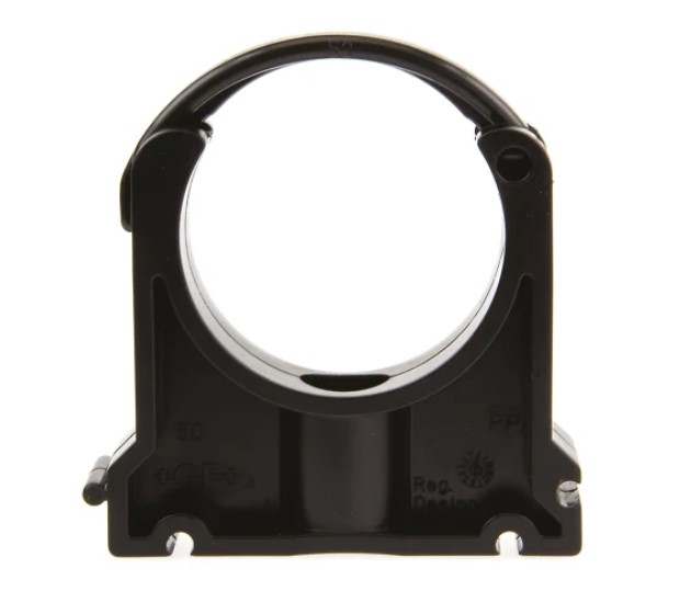 georg fischer pp black pipe clamp 087in x 292in x 201in 028in