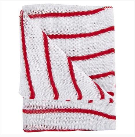 hygiene cloth 16x12 redwhite pack of 10 hdre1610p