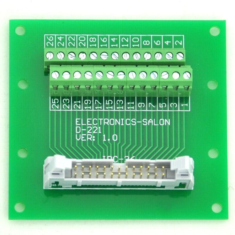 idc male header connector breakout board terminal block 2 x 13 26 pin