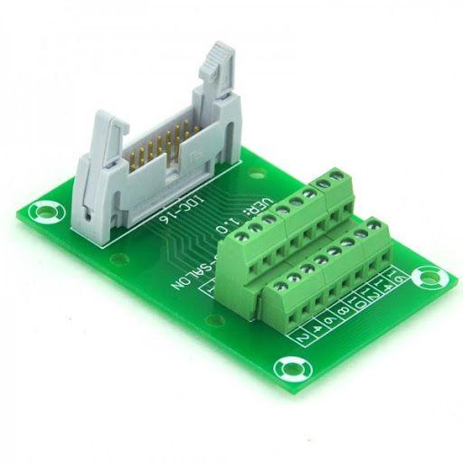 idc male header connector breakout board terminal block 2 x 8 idc 16