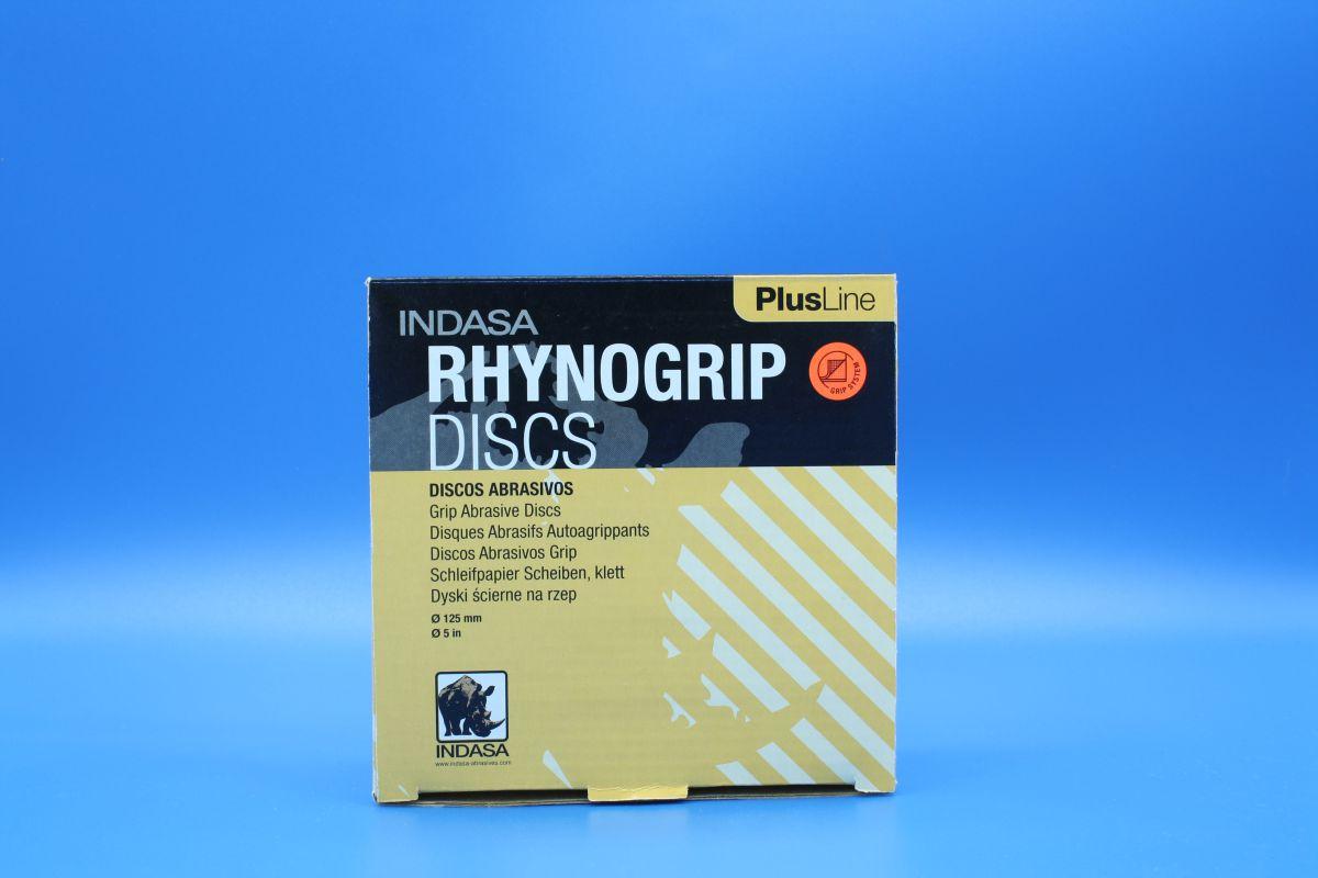 indasa rhynogrip velcro sanding discs 125mm pk50 p180