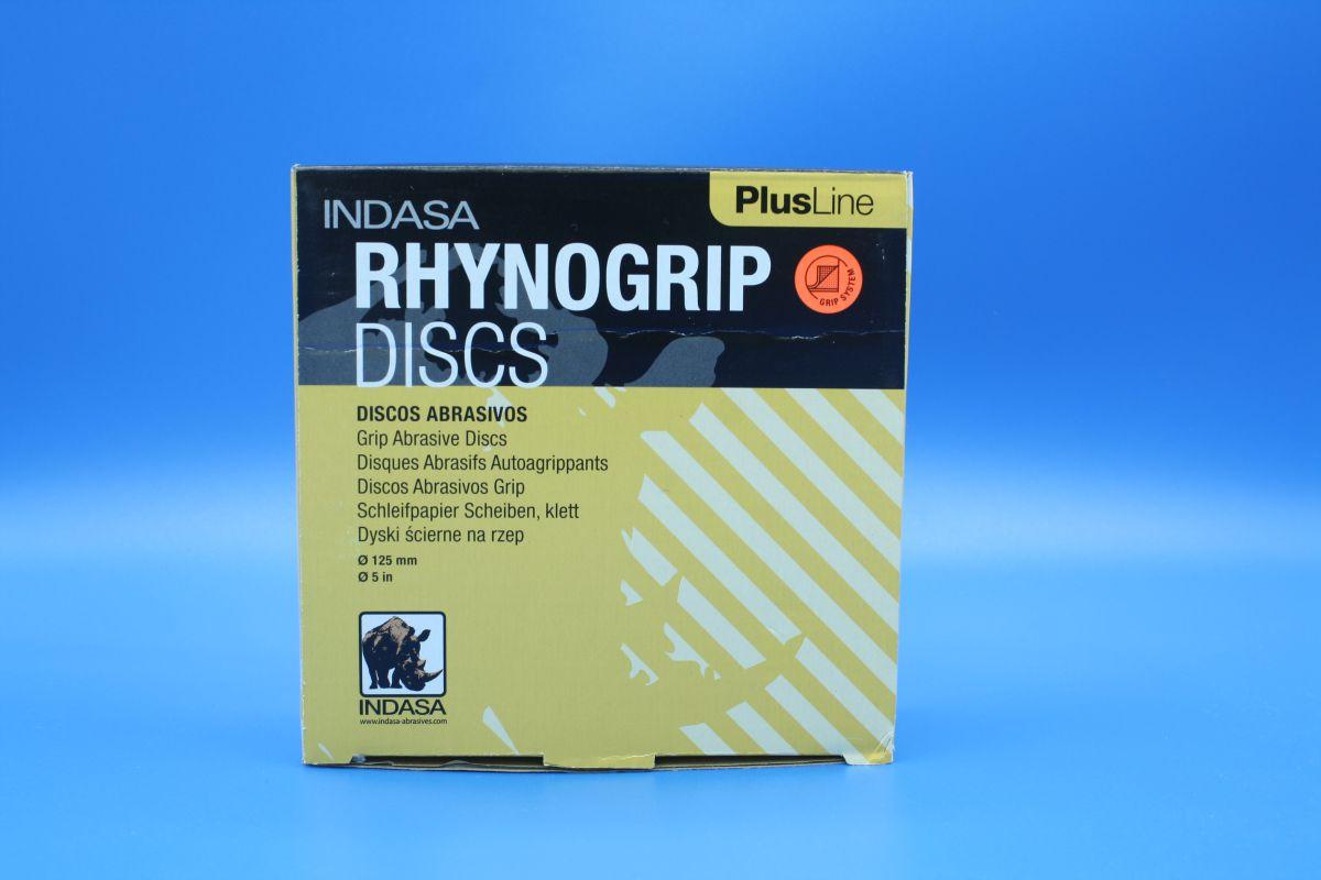 indasa rhynogrip velcro sanding discs 125mm pk50 p240