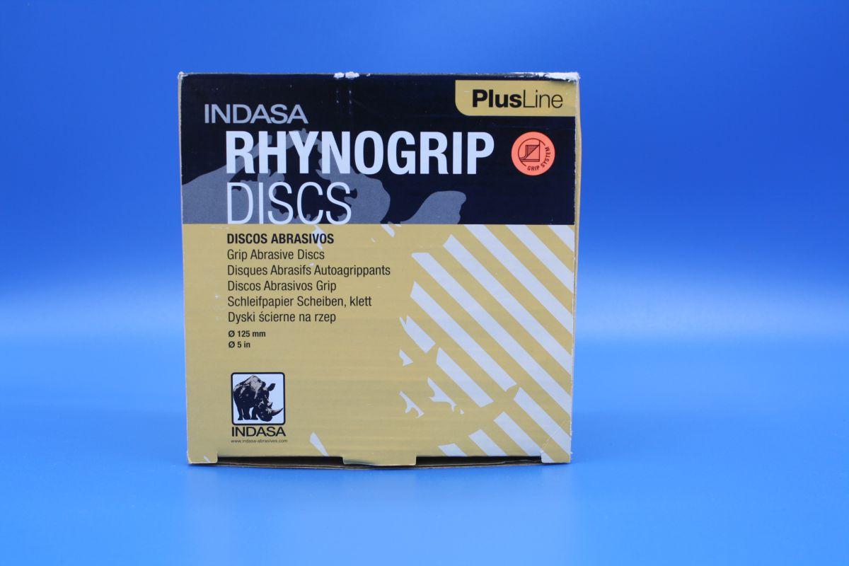 indasa rhynogrip velcro sanding discs 125mm pk50 p60