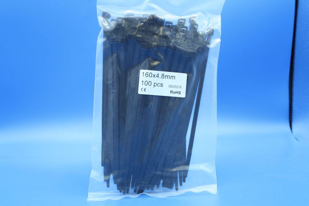 inox cable tie black 48 x 160mm pack 1000