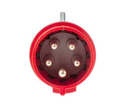 legrand p17 tempra pro ip44 red cable mount 3pne industrial power plug rated at 320a 4150 v
