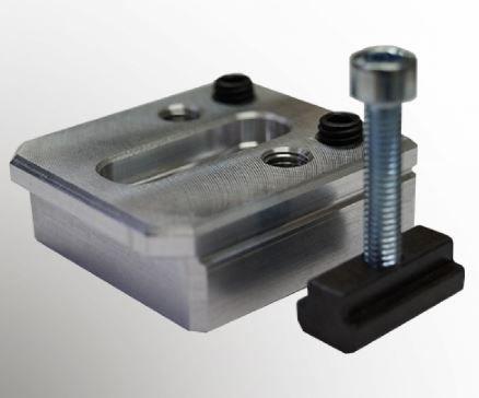 Low profile aluminium clamps