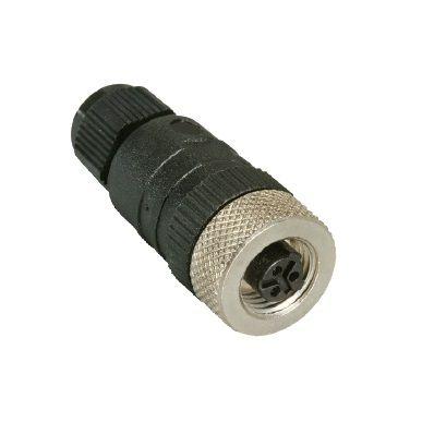 m12 3pole straight female connector rkc 3u7