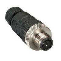 M12 3-Pole Straight Male Connector (RSC 3U/7)