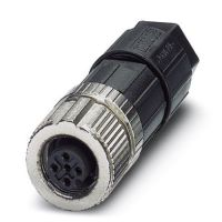 M12 4-pole Straight Female Connector (1424655)