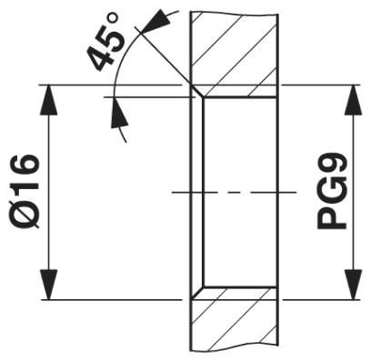 m12 4poles panel mount female with 100cm wiring