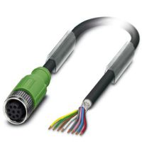 M12 8 Pole Cable L=10000mm FEMALE Shielded with Openend