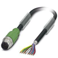 M12 8 Pole Cable L=1500mm MALE Shielded with Openend