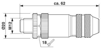 m12 8 pole male shielded screw terminals