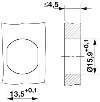 m12 8 pole panel mount male shielded with 100cm wiring