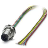 M12 8 Pole Panel Mount MALE with 50cm wiring