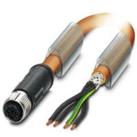 M12-S Power (3+PE) Cable L=10000mm FEMALE Shielded with Openend