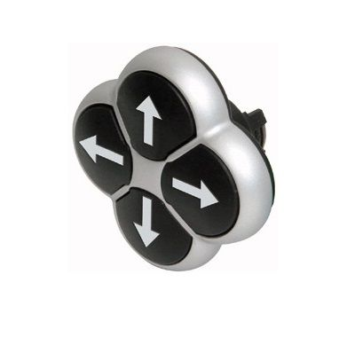m22d4sx7 4way pushbutton black white arrows 22mm momentary