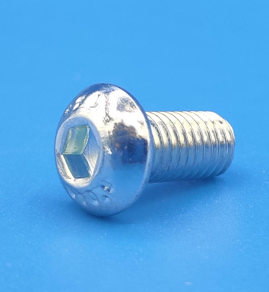 m5 x 12 button head zinc plated