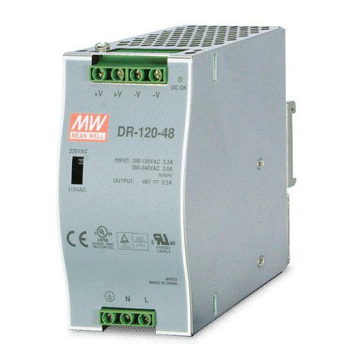 mean well 120w din rail powersupply dr12048 48vdc