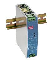 NDR-75-24 24VDC 75W DIN Rail PowerSupply