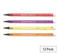 Papermate Non Stop Mechanical Pencil HB Lead Assorted Neon Barrels S0187204 Pack 12