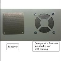 Perforated stainless steel fancover 80x80mm - NL - 84149000